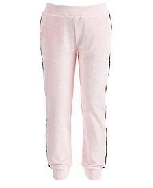 Ideology Big Girls Plus Pink Velour Sweatpants, Created for Macy's