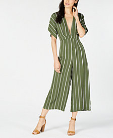 Sage The Label Striped Cropped Jumpsuit