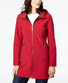 Calvin Klein Hooded Stretch Raincoat
