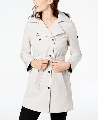 Calvin Klein Pe E Hooded Belted Trench Coat 2 Reviews Main Image