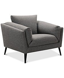 "Neriah 42"" Fabric Armchair, Created for Macy's"