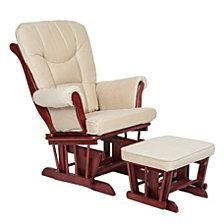 Sleigh Glider Chair & Ottoman