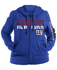 5th & Ocean Women's New York Giants Plus Glitter Block Hoodie