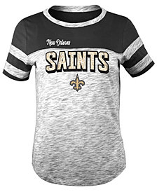 5th & Ocean New Orleans Saints Space Dye Glitter T-Shirt, Girls (4-16)