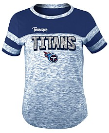 5th & Ocean Tennessee Titans Space Dye Glitter T-Shirt, Girls (4-16)