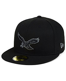 New Era Philadelphia Eagles Black Gray Basic 59FIFTY FITTED Cap