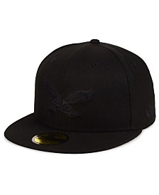 New Era Philadelphia Eagles Black on Black 59FIFTY FITTED Cap