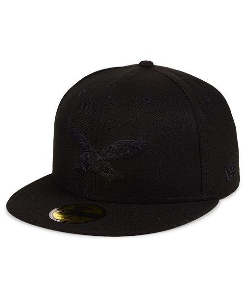 New Era Philadelphia Eagles Black on Black 59FIFTY FITTED Cap