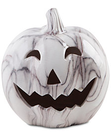 Home Essentials Marble Jack-O-Lantern Decor