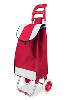 Rolling Shopping Cart, Red