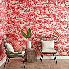 Tempaper Flamingo Self-Adhesive Wallpaper