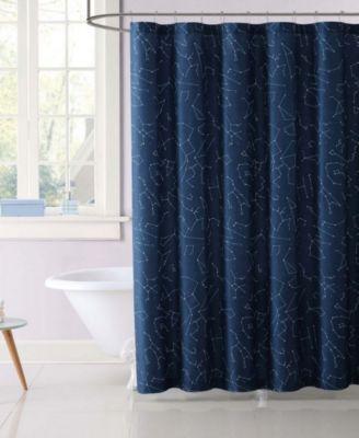 Kids Moon Printed Shower Curtain