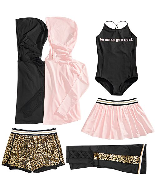 ideology big girls mesh print mix and match dance outfits sets