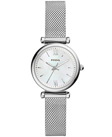Women's Mini Carlie Stainless Steel Mesh Bracelet Watch 28mm
