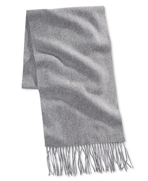 cf110edde Club Room Men's Solid Cashmere Scarf, Created for Macy's & Reviews ...