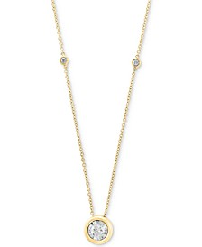 """Bubbles by EFFY® Diamond Bezel 18"""" Pendant Necklace (1/2 ct. t.w.) in 14k White, Yellow or Rose Gold"""
