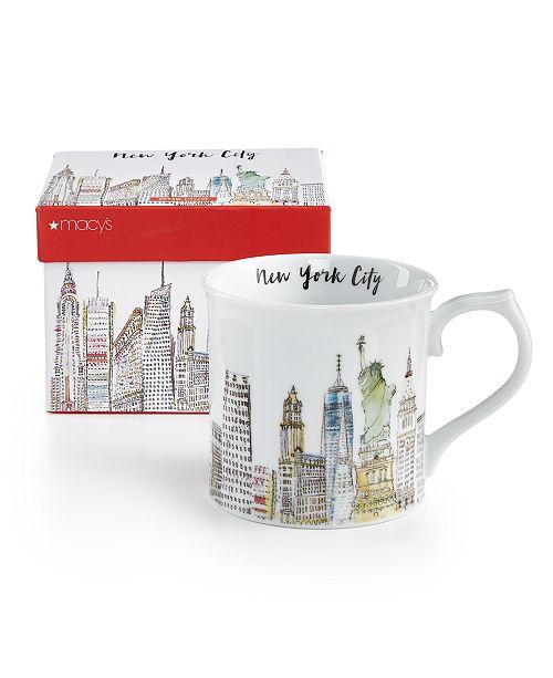 Macy's Rosanna Skyline Mug - Water Color Mug 12oz