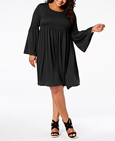 John Paul Richard Plus Size Smocked Dress