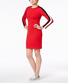 Tommy Hilfiger Striped-Sleeve Dress, Created for Macy's
