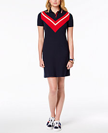 Tommy Hilfiger Chevron-Print T-Shirt Dress, Created for Macy's