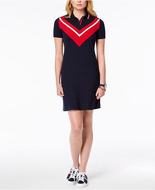 a4abc2d8a2689 ... Tommy Hilfiger Chevron-Print T-Shirt Dress
