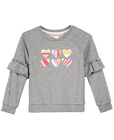 Epic Threads Little Girls Ruffle-Trim Sweatshirt, Created for Macy's