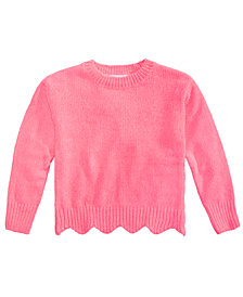 Epic Threads Toddler Girls Scalloped-Hem Sweater, Created for Macy's