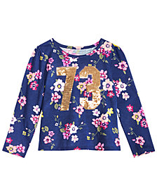 Epic Threads Toddler Girls Sequin Floral-Print T-Shirt, Created for Macy's