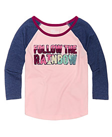 Epic Threads Little Girls Raglan T-Shirt, Created for Macy's