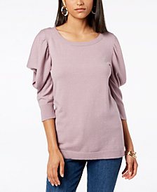 Love Scarlett Petite Ruffled-Sleeve Sweater