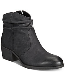 White Mountain Uptown Block-Heel Slip-On Ankle Booties, Created for Macy's