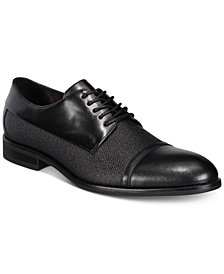 Alfani Men's Preston Textured Cap-Toe Oxfords, Created for Macy's