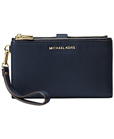 5db3a7cca778 MICHAEL Michael Kors Adele Double-Zip Pebble Leather Phone Wristlet