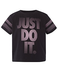 Nike Little Girls Just Do It-Print Cotton T-Shirt
