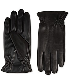Isotoner Men's Faux-Leather Gloves