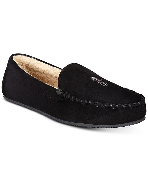 791fe4f677 Polo Ralph Lauren Men s Dezi Micro-Suede Slippers   Reviews ...