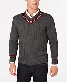 Club Room Men's Cricket V-Neck Sweater, Created for Macy's