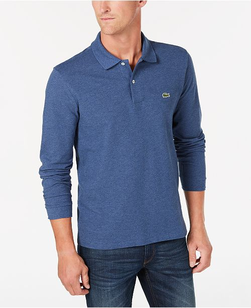 4d3deb995 Lacoste Men s Long Sleeve Pique Polo  Lacoste Men s Long Sleeve Pique ...