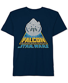 Star Wars Big Boys Millennium Falcon Cotton T-Shirt