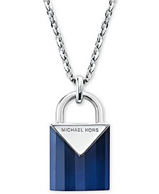 Women's Kors Color Semi-Precious Sterling Silver Padlock Necklace