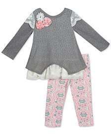 Rare Editions Baby Girls 2-Pc. Tunic & Leggings Set