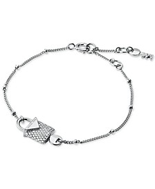 Women's Kors Color Sterling Silver Pavé Bracelet