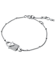 Michael Kors Women's Kors Color Sterling Silver Pavé Bracelet