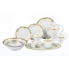 Lorren Home Trends Catherine 57-Pc. Dinnerware Set, Service for 8