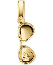 Women's Custom Kors 14K Gold-Plated Sterling Silver Sunglasses Charm
