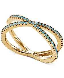 Women's Custom Kors Sterling Silver Pave Nesting Ring Insert