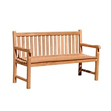 Courtyard Casual Teak Heritage Outdoor Two Seater Bench