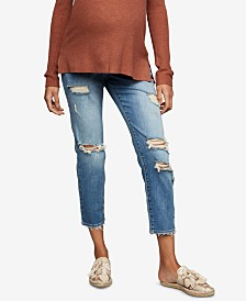 A Pea in the Pod Maternity Cropped Girlfriend Jeans