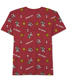 Nintendo Little Boys Mario Icon Graphic T-Shirt