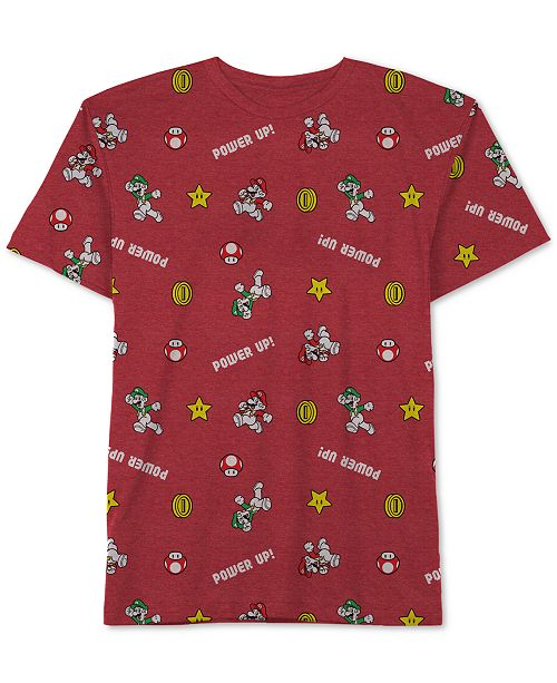 Nintendo Big Boys Mario Icon Graphic T-Shirt